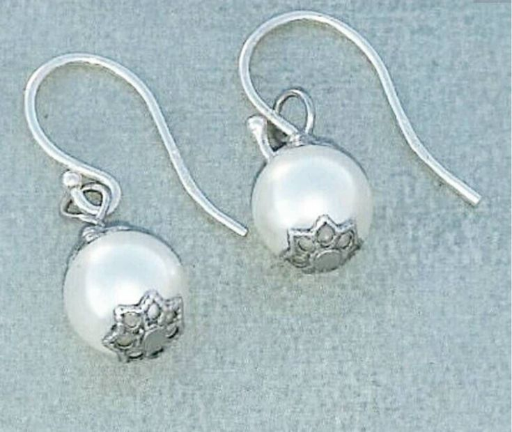 Large Pearl drop earrings - Freshwater pearl earrings - white pearl earring - dainty pearl earring - bridal anniversary gift for her
