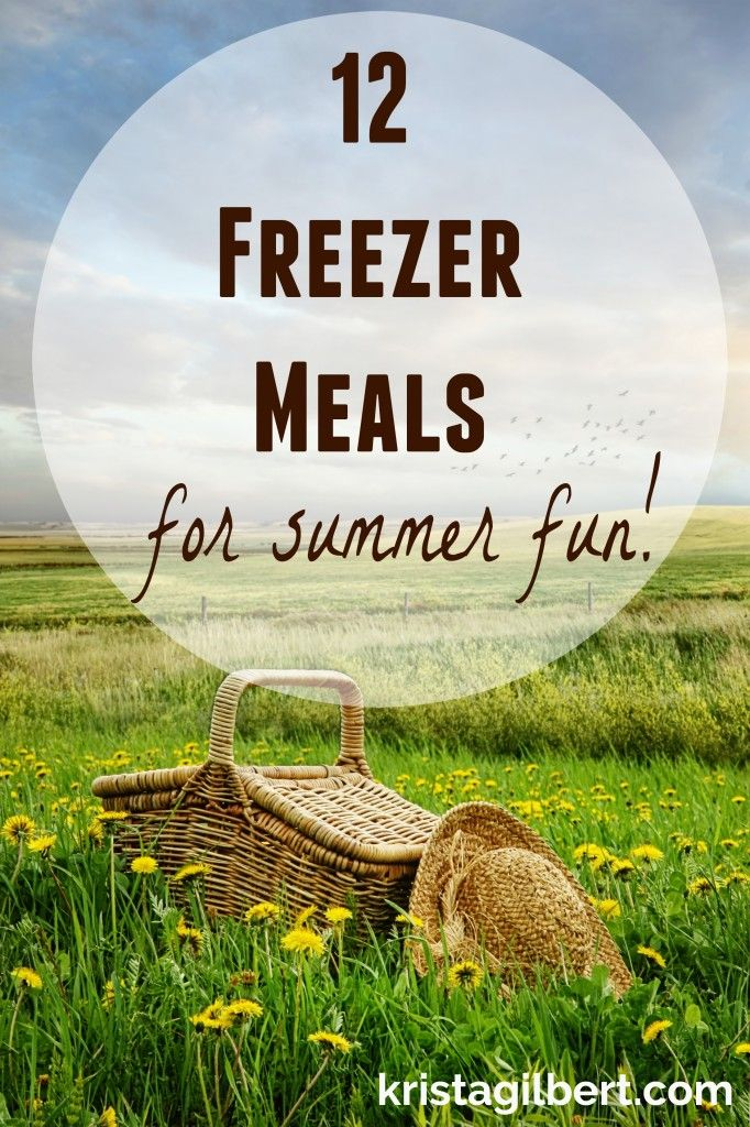 Want to spend more time at summer concerts and picnics and less time in the kitchen this summer? Here are 12 freezer meals that will keep you stocked and ready to go when the fun hits!