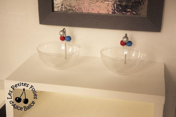 Alice Balice DIY : Maison de Barbie - lavabos/vasques salle de bain SDB