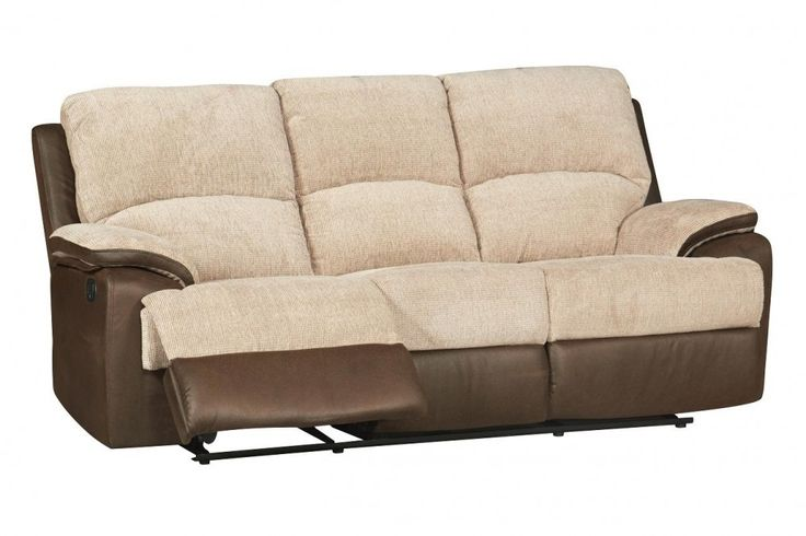 #Georgia 3 Seater Fabric #Reclining #Sofa
