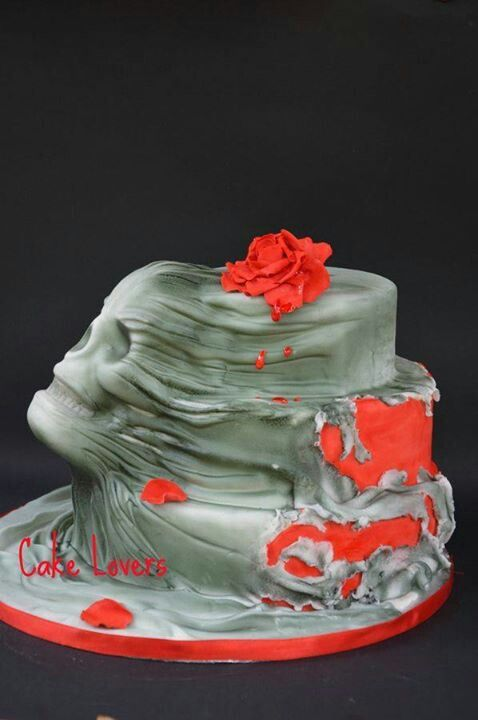 Skull coming out of a cake. The craftsmanship on this is amazing.