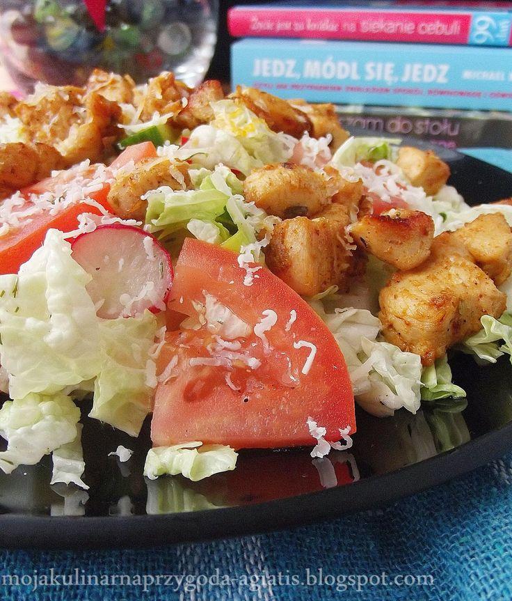 Moja kulinarna przygoda: Sałatka z kapusty pekińskiej i kurczaka