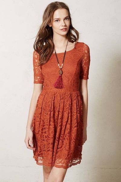 Bordeaux lace frost dress
