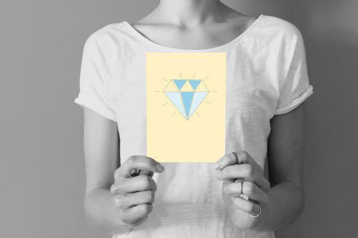 • diamond card •  visit our shop: www.etsy.com/shop/paperpow