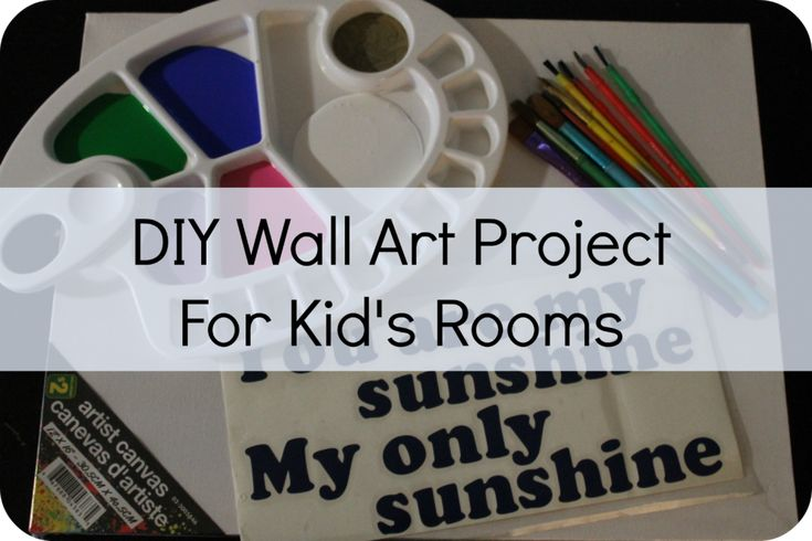 Easy DIY Wall Art Project for Kid's Rooms for under $10!
