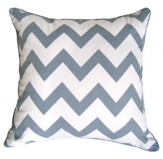 Chevron Cushion Cover Grey