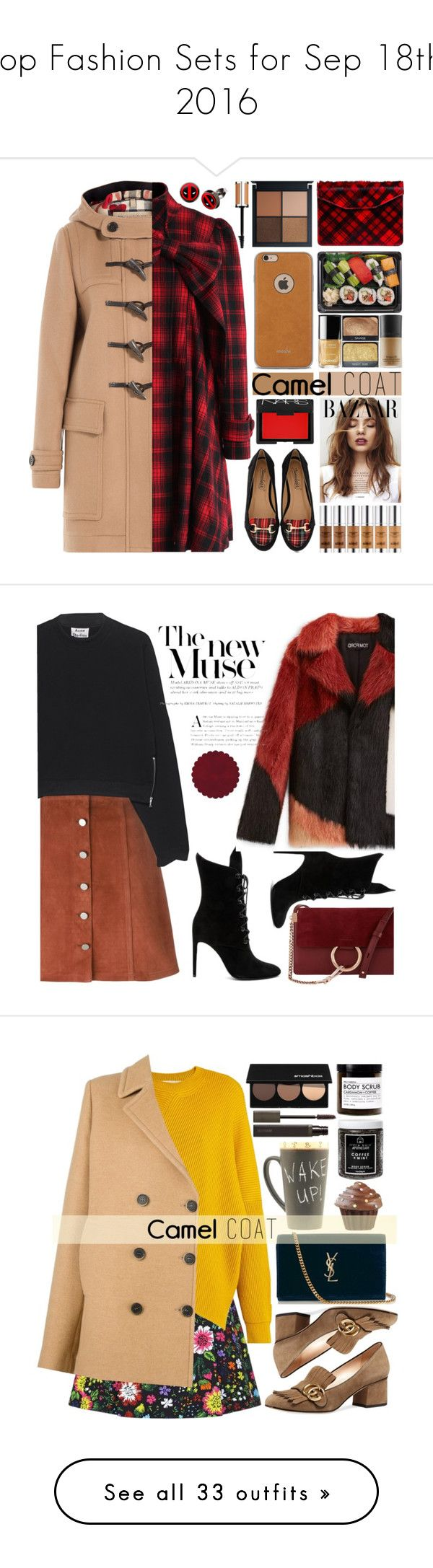 """""""Top Fashion Sets for Sep 18th, 2016"""" by polyvore ❤ liked on Polyvore featuring Chicwish, Timeless, Moshi, Burberry, Jas M.B., NARS Cosmetics, Marvel, Givenchy, Theory and Acne Studios"""