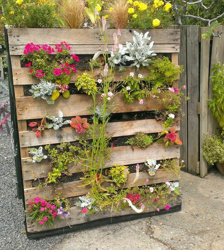 Crate verticle planter