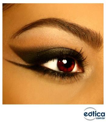 Maquiagem e lente amendoada #makeup #maquiagem
