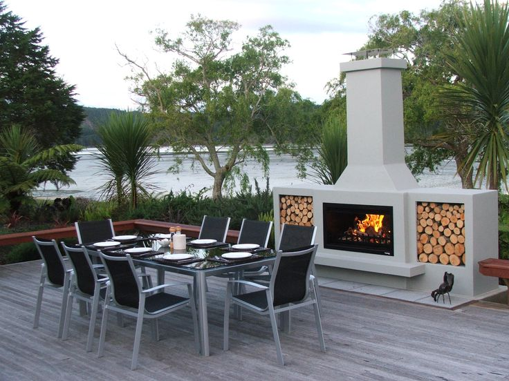 Better than a firepit this outdoor deck area creates a great outdoor space for any home.