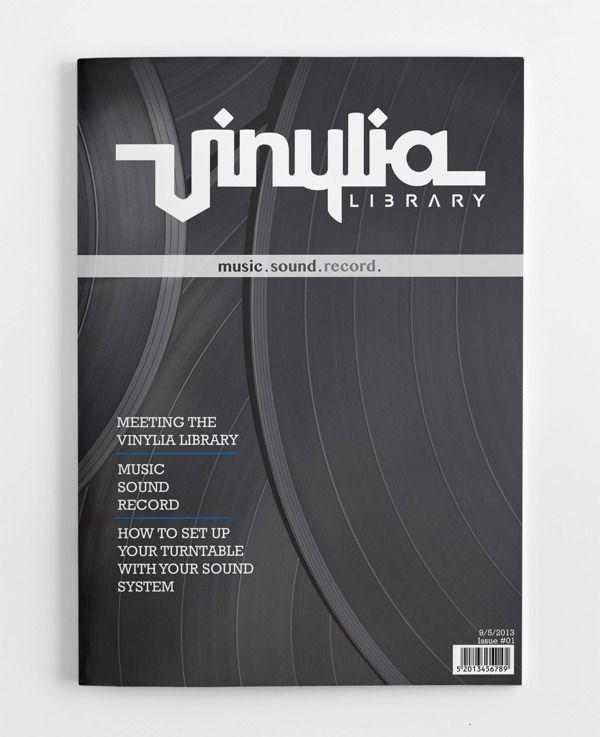 Promotional magazine cover of vinylia