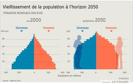 Le vieillissement ralentira la croissance mondiale - Le Figaro   Infographie, Marché, Data  & Seniors   Scoop.it