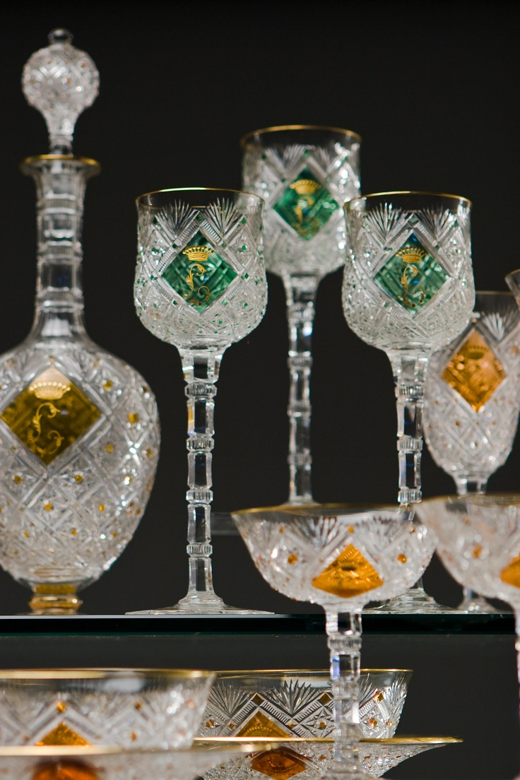 Mejores 65 im genes de cristal copas vasos en - Vajillas de cristal ...