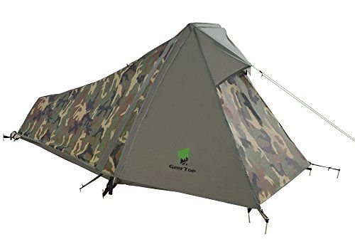 GEERTOP 1-Person 3-4 Season Lightweight Backpacking Bivy Tent, Aluminum Pole, For Outdoor Camping Hiking. For product & price info go to:  https://all4hiking.com/products/geertop-1-person-3-4-season-lightweight-backpacking-bivy-tent-aluminum-pole-for-outdoor-camping-hiking/