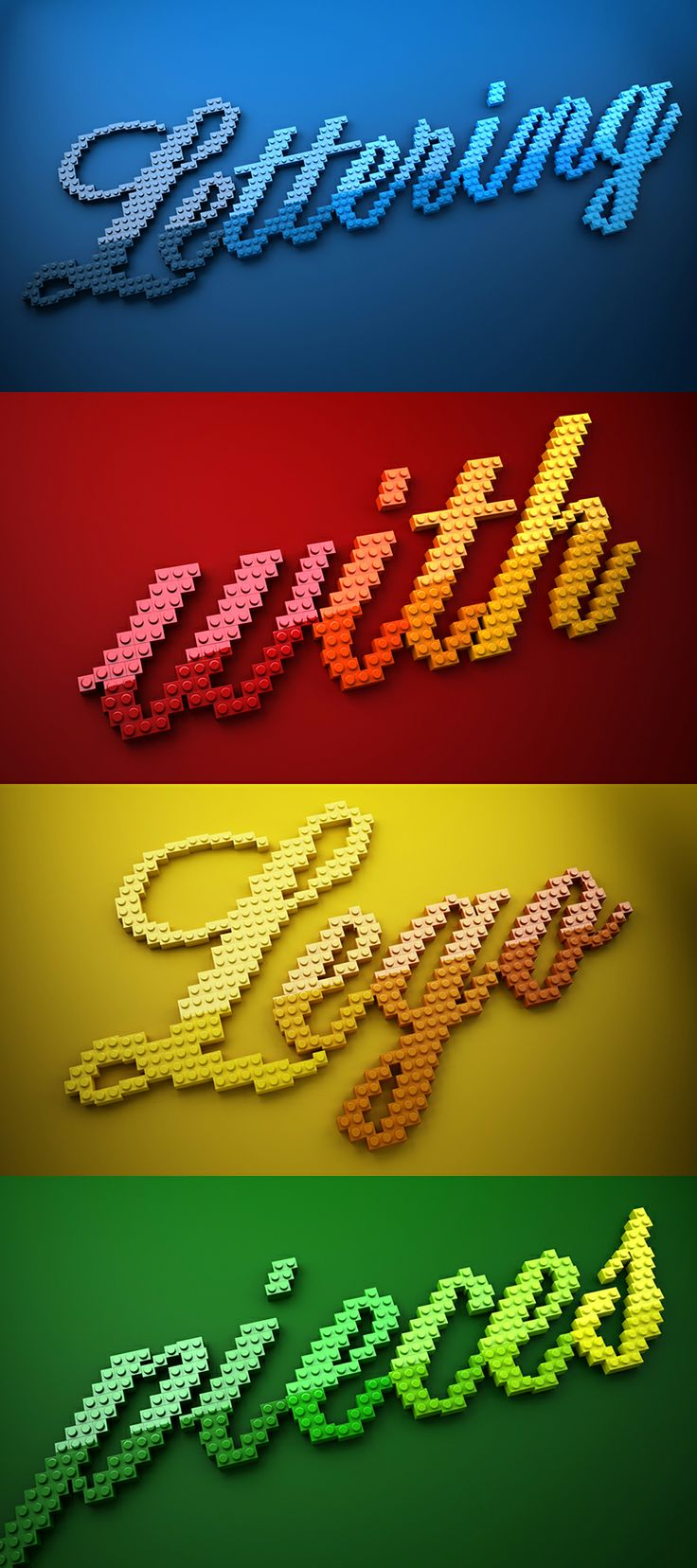 Lettering with Lego pieces by Muokkaa
