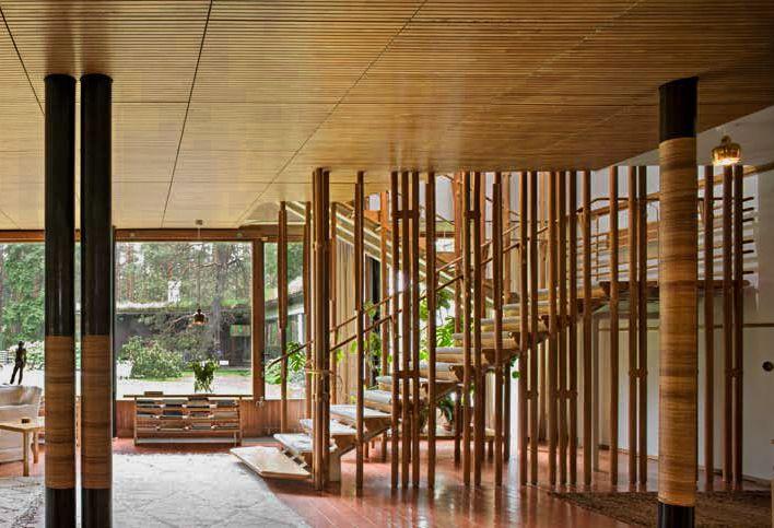Villa Mairea, by Alvar Aalto, 1937-1939, Noormarkku, Finland.