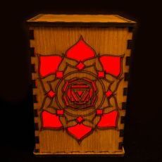 Root Chakra Lightbox - 16 Colour RGB LED With Remote