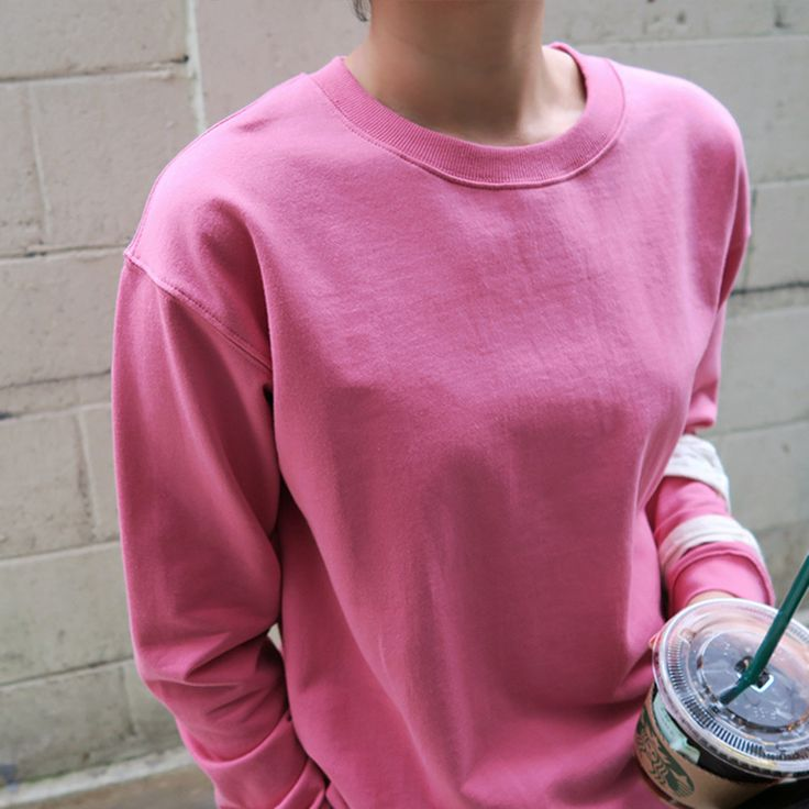 Pink girly sweat shirt