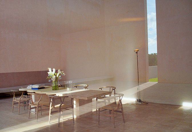 Set in an almond grove on the southern part of the island, Mallorca Villa was designed by John Pawson and Claudio Silvestrin, the duo responsible for desig