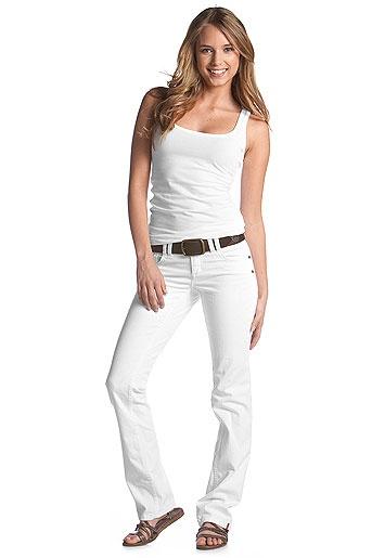 Witte dames broek