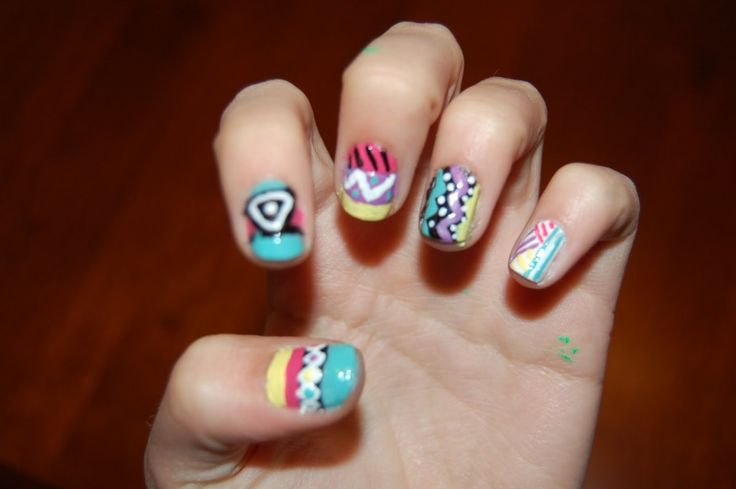 Tribal Nail Design :http://naildesignart2015.com/2015/01/20/tribal-nail-design/