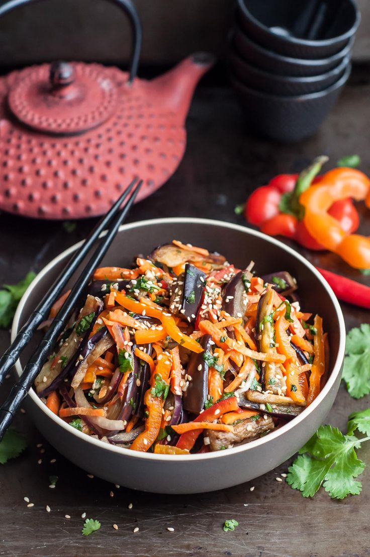 This crunchy, flavor-loaded and delicious Asian Eggplant Salad is a perfect side dish - light and healthy, but very filling.