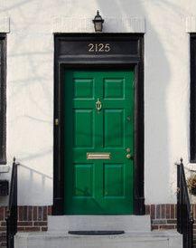 **FRONT DOOR COLOR OPTIONS colors for front doors | most popular colors for an exterior front door is the green front door ...