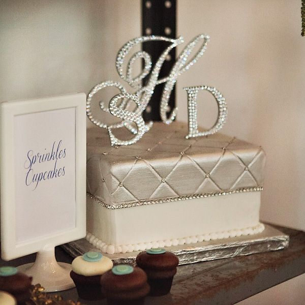 Rhinestone Wedding Cake Toppers