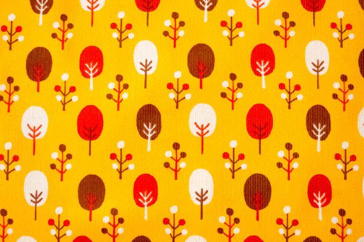 Stoff von Cosmo: Cord mit Herbstmotiv