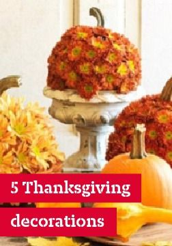 5 Thanksgiving decorations – Thanksgiving decorations can be all about the harvest and giving thanks, and ours are no exception.