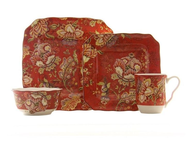 222 Fifth Gabrielle 16 Piece Dinnerware Set #222Fifth #Traditional