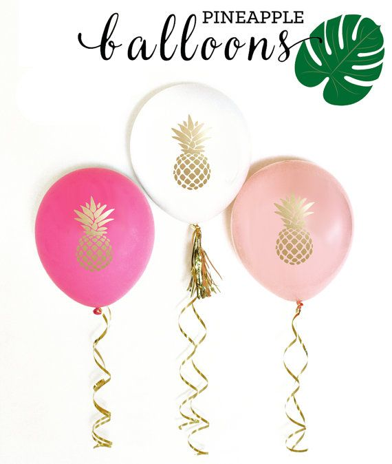 Pineapple Party Balloons Pineapple Balloons Pineapple by ModParty