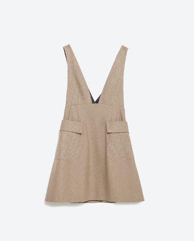 Image 8 of CHECK PINAFORE DRESS from Zara