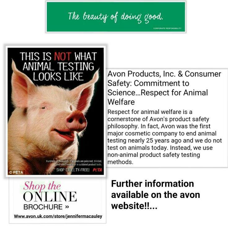 Avon advertising no animal testing