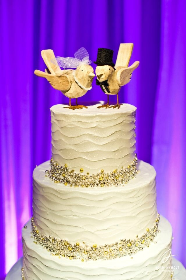 Claire used a heirloom Lladro figurine as a cake topper--a great way ...