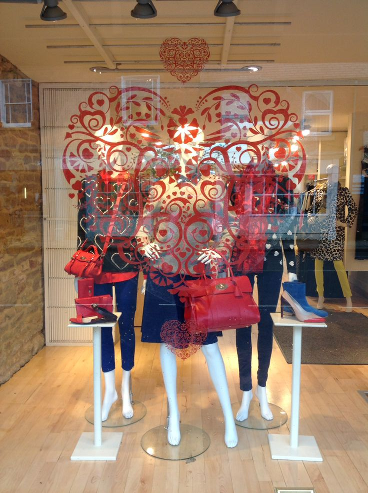 Chinti and Parker and Mulberry in Valentines Window 2014