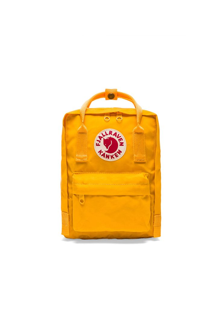 Fjallraven Kanken Mini in Warm Yellow | REVOLVE