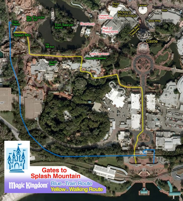 Route to Splash Mt or Big Thunder