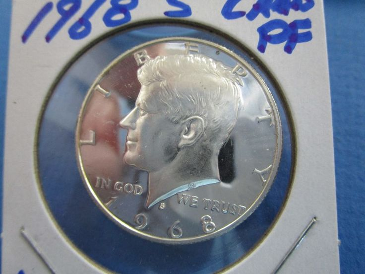 1968 USA 40% Silver Kennedy Half Dollar  UNC Proof Like