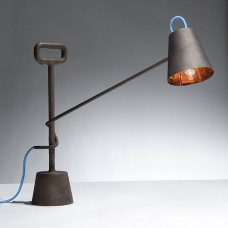 Copper Lamp 10kg by Tobias Sieber   and Samuel Treindl