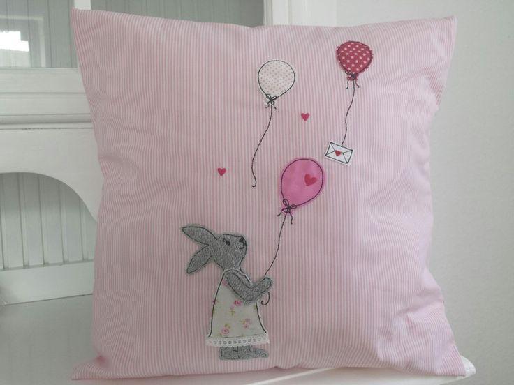 Stickmuster - Stickdatei Hase mit Luftballons Doodle Ballon 13x1 - ein Designerstück von Stickherz bei DaWanda