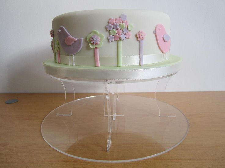 Pastel shades baby dedication/christening/baby shower cake