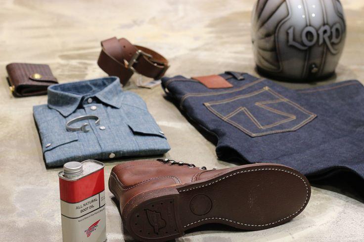 Look printemps chez Lord - à Nice chaussures Red Wings , jean et chemise Eat Dust - lire la suite sur 21grammesmotorcycles.com