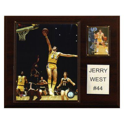 NBA 12 x 15 in. Jerry West Los Angeles Lakers Player Plaque - 1215JWEST