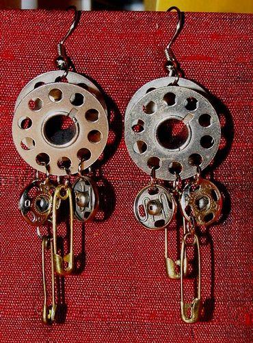 Sew In Love Vintage Bobbin Earrings | Flickr - Photo Sharing!
