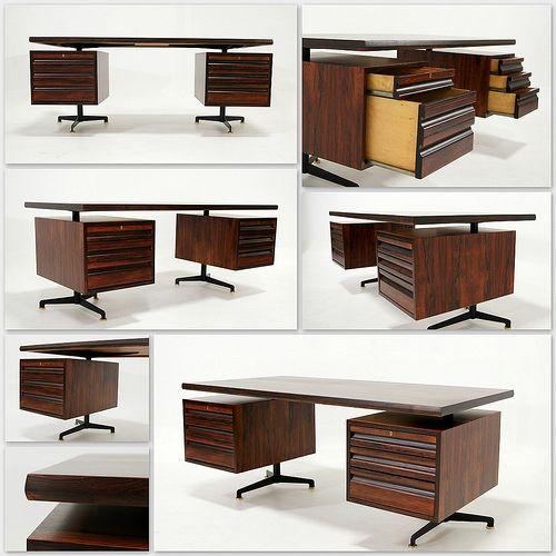 Oswaldo Borsani Desk 1950's www.facebook.com/KameleonDesign.nl