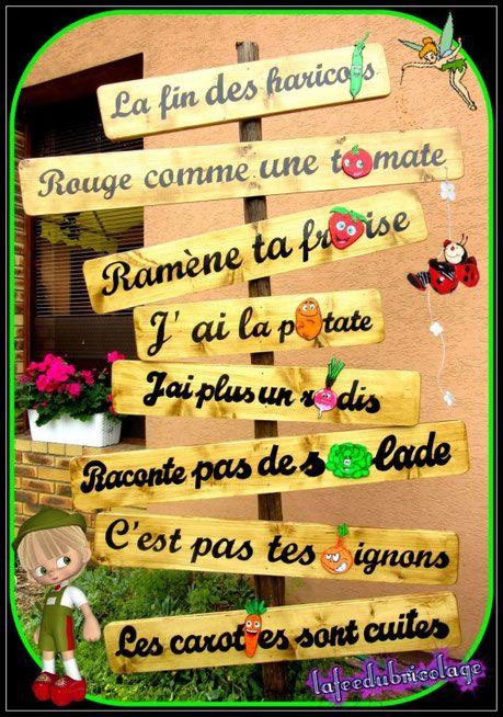 Panneau de jardin humoristique jardinage panneau jardin jardin potager et decoration jardin - Panneau jardin bois ...