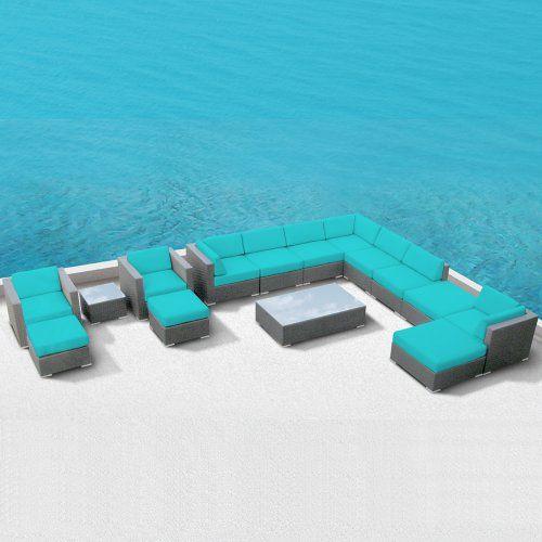 Modern Outdoor Patio Furniture Wicker Bella 15 PIECE TURQUOISE Luxxella http://www.amazon.com/dp/B00AYVIIUY/ref=cm_sw_r_pi_dp_JSpKtb1T58BPPQN7