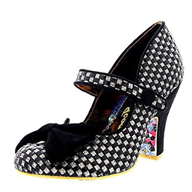 Amazon.com | Womens Irregular Choice Fancy This Strappy Party Court Shoe High  Heel |