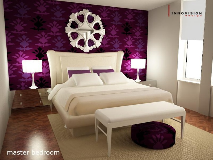 Burgundy Bedroom...oooh Maybe Do Something Similar But Diff Color
